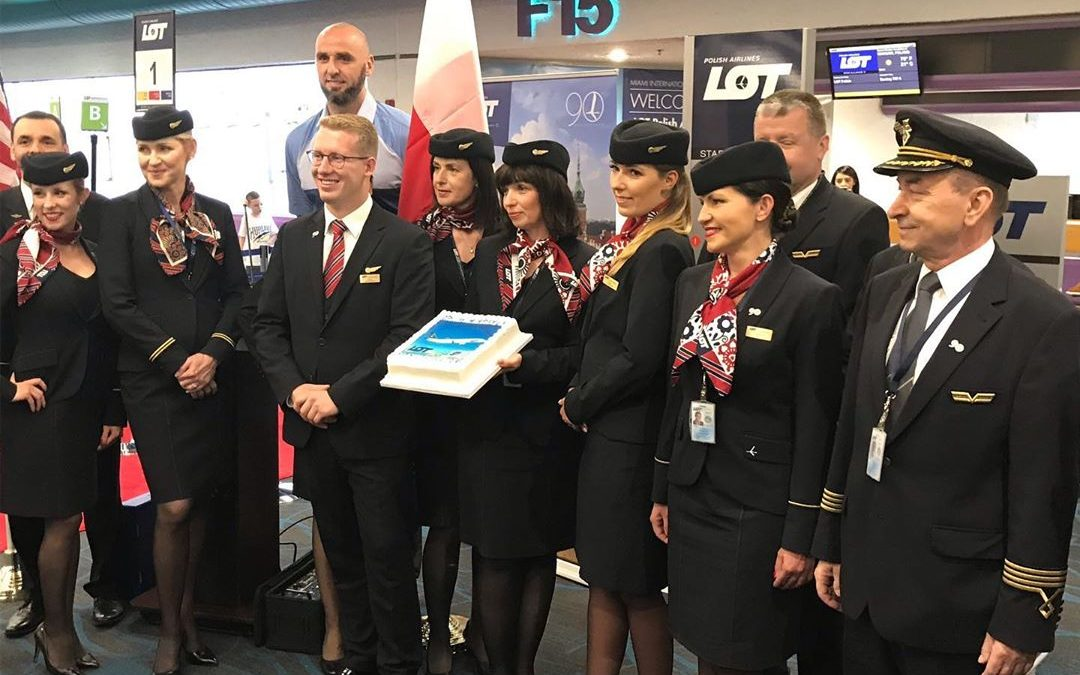 MIAMI'S FIRST FLIGHT TO POLAND TAKES OFF, WILL SERVE ALMOST 500,000 POLES IN FLORIDA