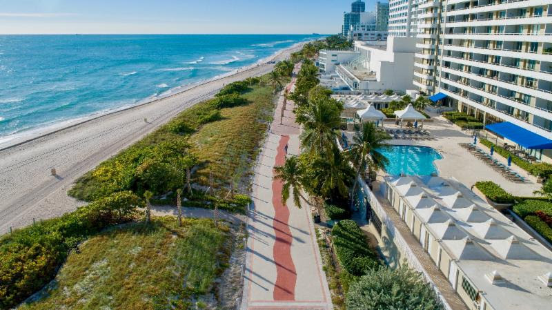 RIBBON CUTTING CEREMONY TODAY FOR BEACHWALK THAT WILL RUN NEARLY ENTIRE LENGTH OF MIAMI BEACH
