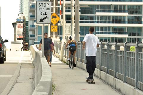 Pedestrian gates next answer to Brickell Bridge gridlock