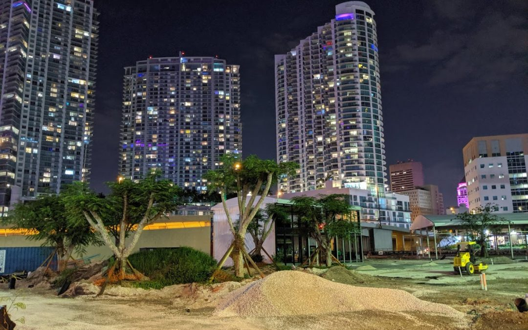 PROGRESS AT RIVERSIDE BRICKELL, WHERE CAPACITY FOR 2,000 GUESTS IS NOW UNDER CONSTRUCTION
